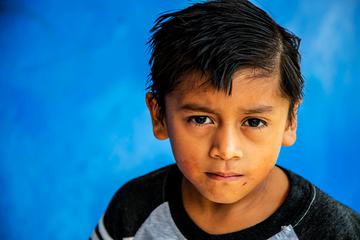 Portrait of Sad Young Boy