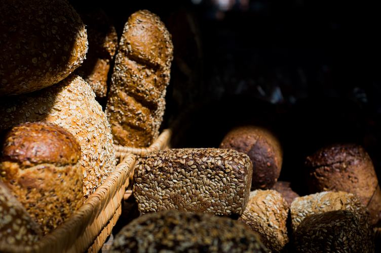 Different Kinds of Bread with Grain