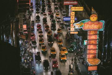 Evening traffic in Chinatown, Bangkok, Thailand