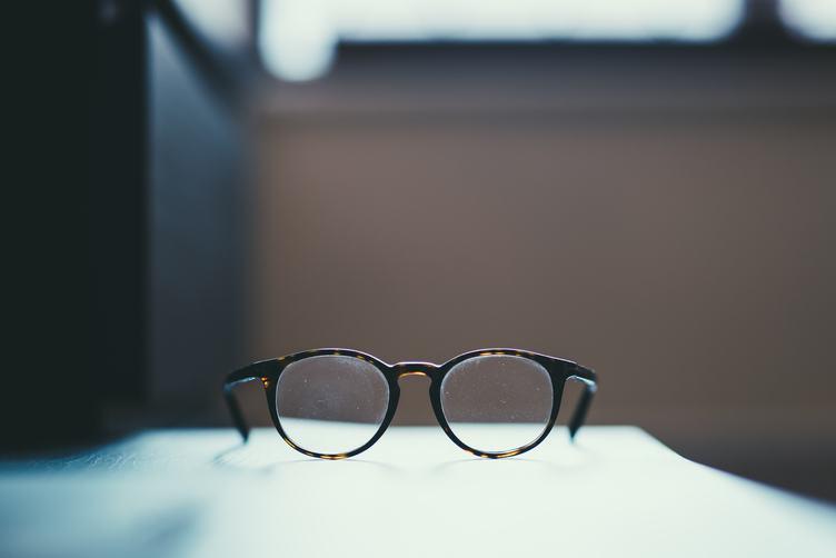 Closeup of Dusty Glasses