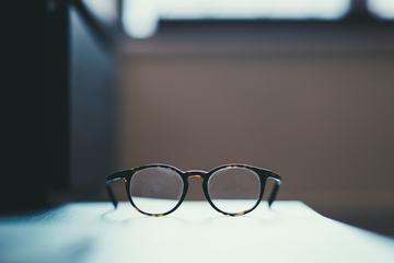 Closeup of Dusty Glasses