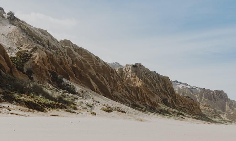 Sandstone Cliffs Portugal