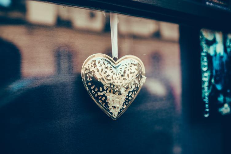 Gold Heart Decoration