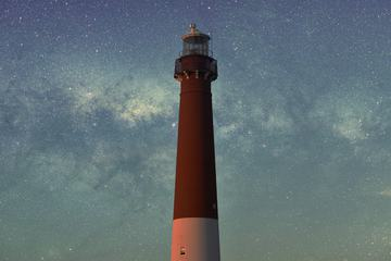 Barnegat Lighthouse Long Exposure Sky