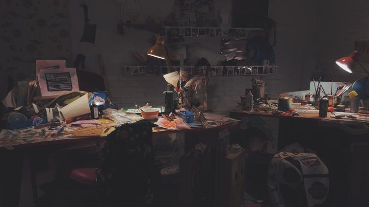 Artistic Mess in Studio
