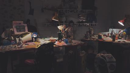 Artistic Mess in Studio