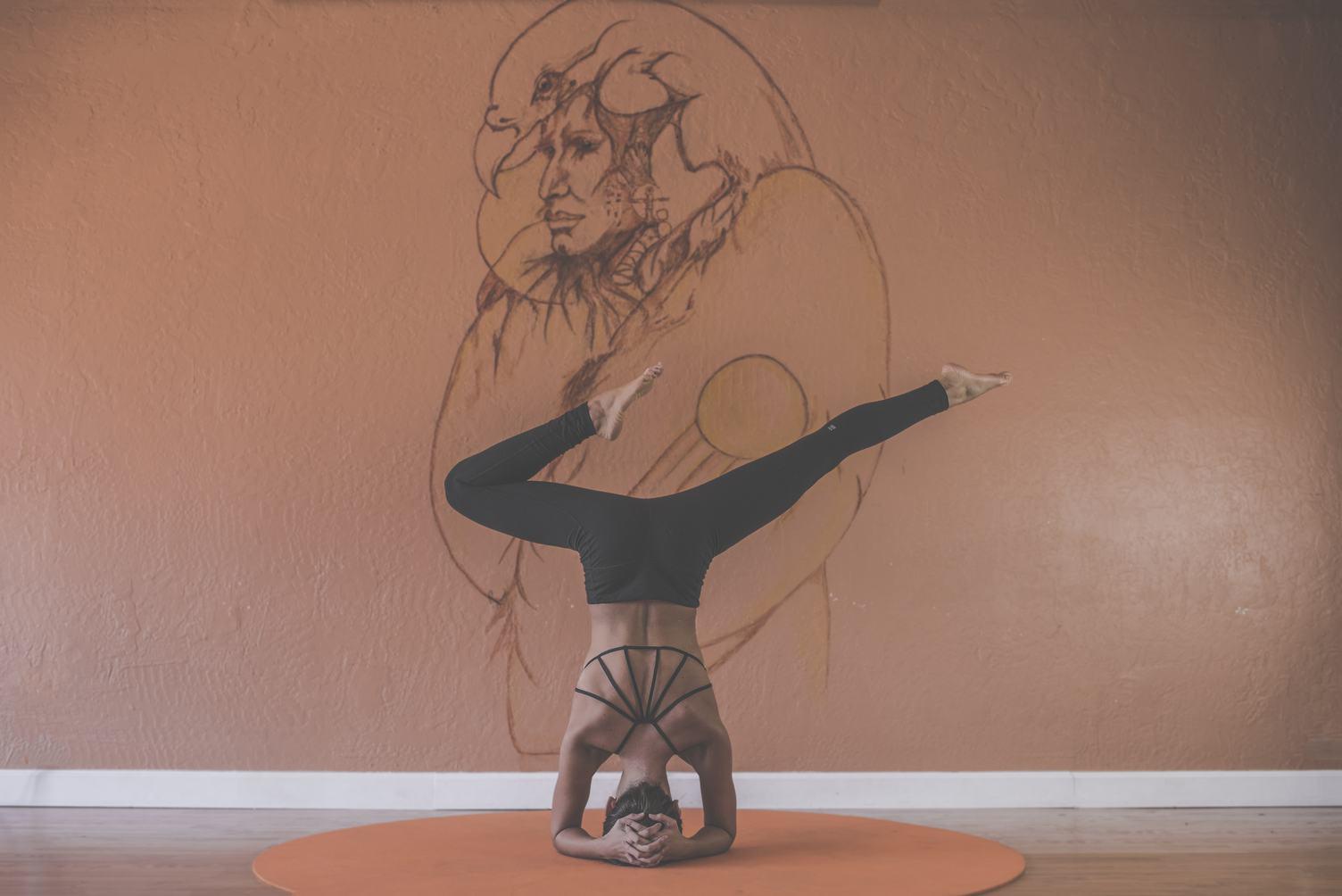 Beautiful Woman Doing Yoga