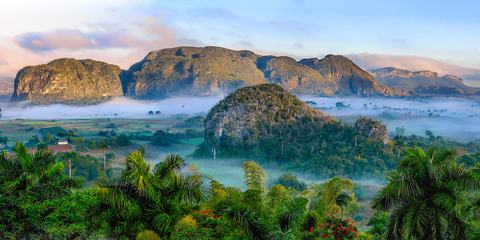 Panorama of Green Hills, Vinales, Cuba