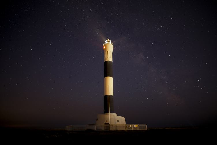 Dungeness Lighthouse at Night Full of Stars