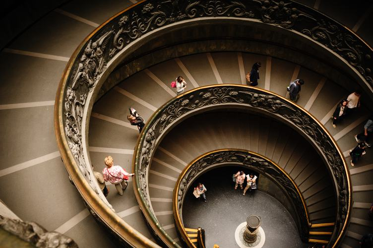 Bramante Spiral Staircase with Ornament Rails, Vatican Museum