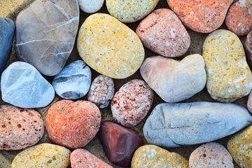 Colorful Rock Pebbles Texture