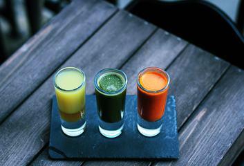 Set of Tricolor Healthy Vitamin Shots