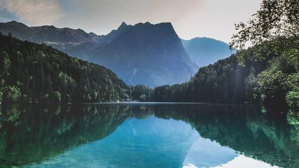 Mountain Landscape, Lake Piburger See, Austria