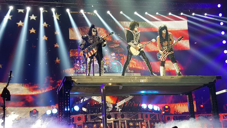 Kiss American Rock Band Concert