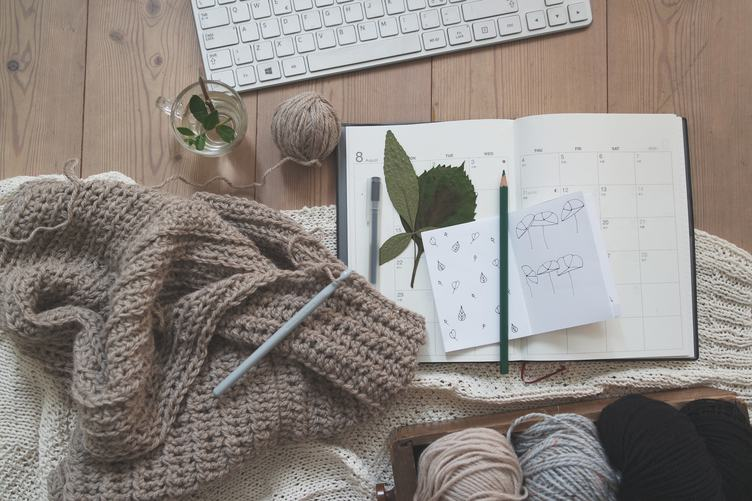 Top View of Craft Creative Workspace