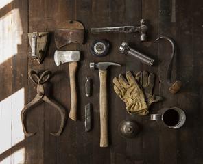 Vintage Craftsman Tool Kid Flatlay