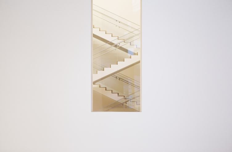 Stairwell in Building of Modern Art Museum in NY