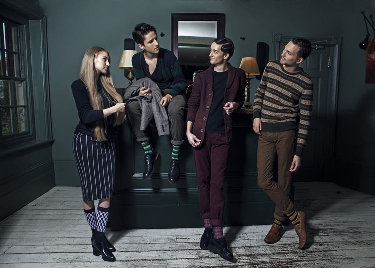 Fashion Photography, a Group of Young People Dressed Smartly