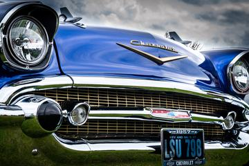 Shiny Blue Vintage Chevrolet Car
