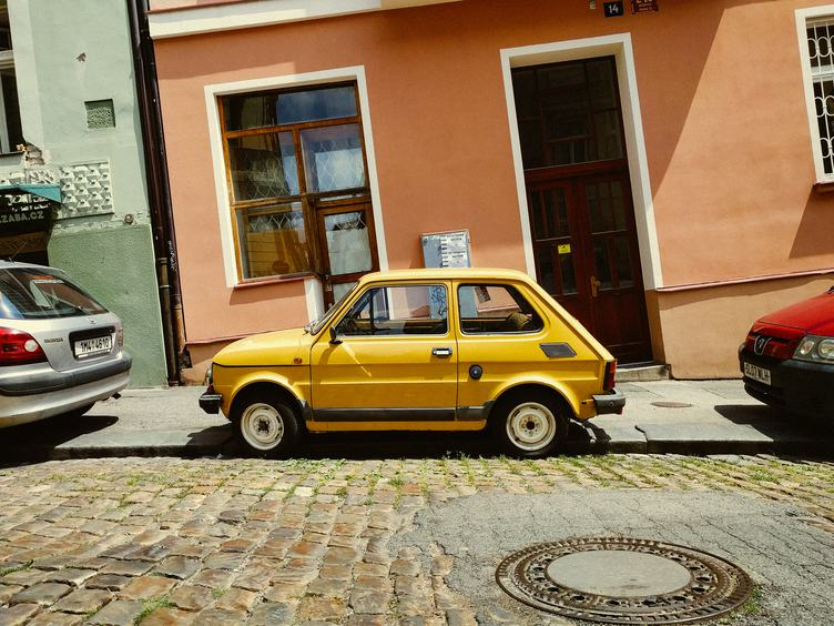 Fiat 126p Parked by the Street