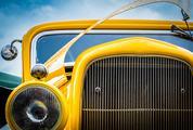 Yellow Custom Car Closeup