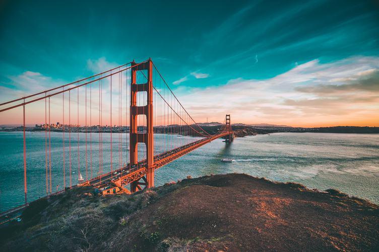 Turquoise Sky over Golden Gate Bridge, San Francisco, United States