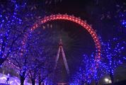 London Eye Ferris Wheel at Night