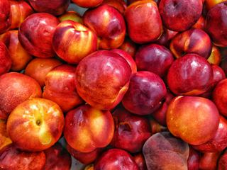 Ripe nectarines in the Market