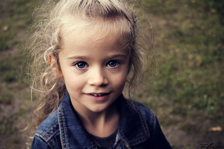 Portrait of Smiling Five Years Old Child Girl