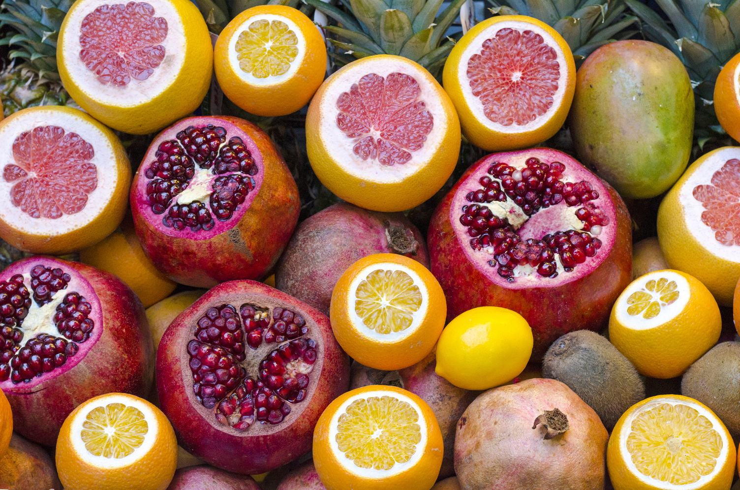 Mix of Fruits Background