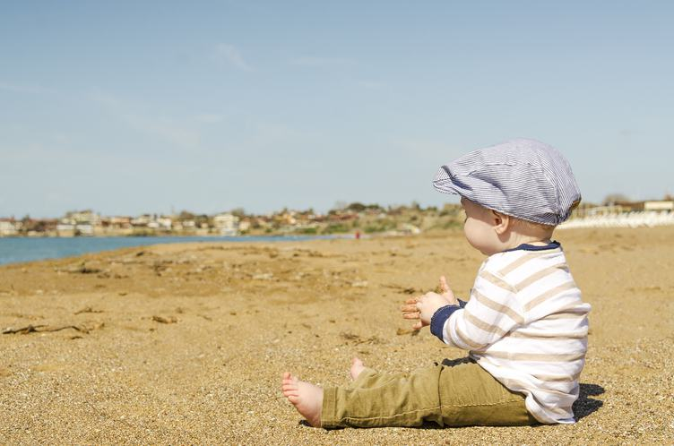 Little Baby Boy on the Beach
