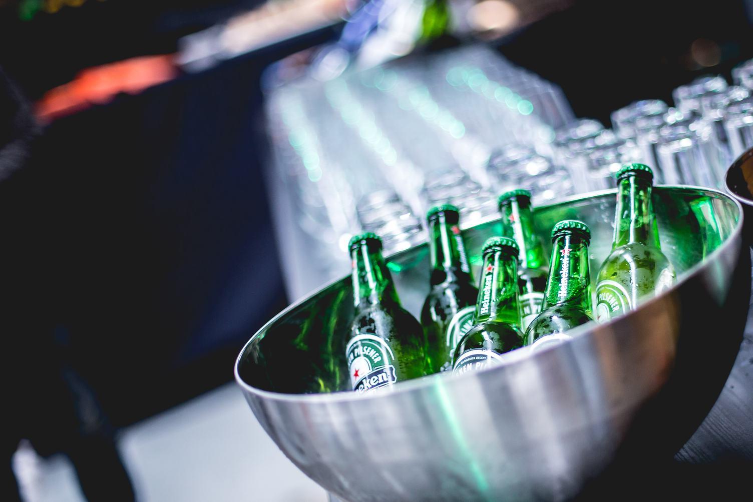 Green Bottle of Heineken Beer