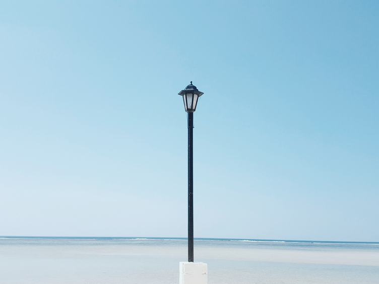 Coast with Lampposts