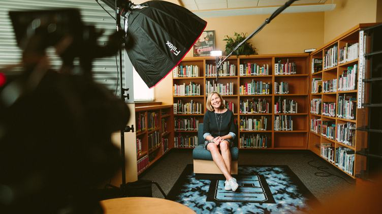 Interview in the Library