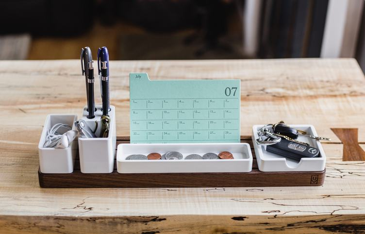 Wooden Table Stationery Set and Calendar