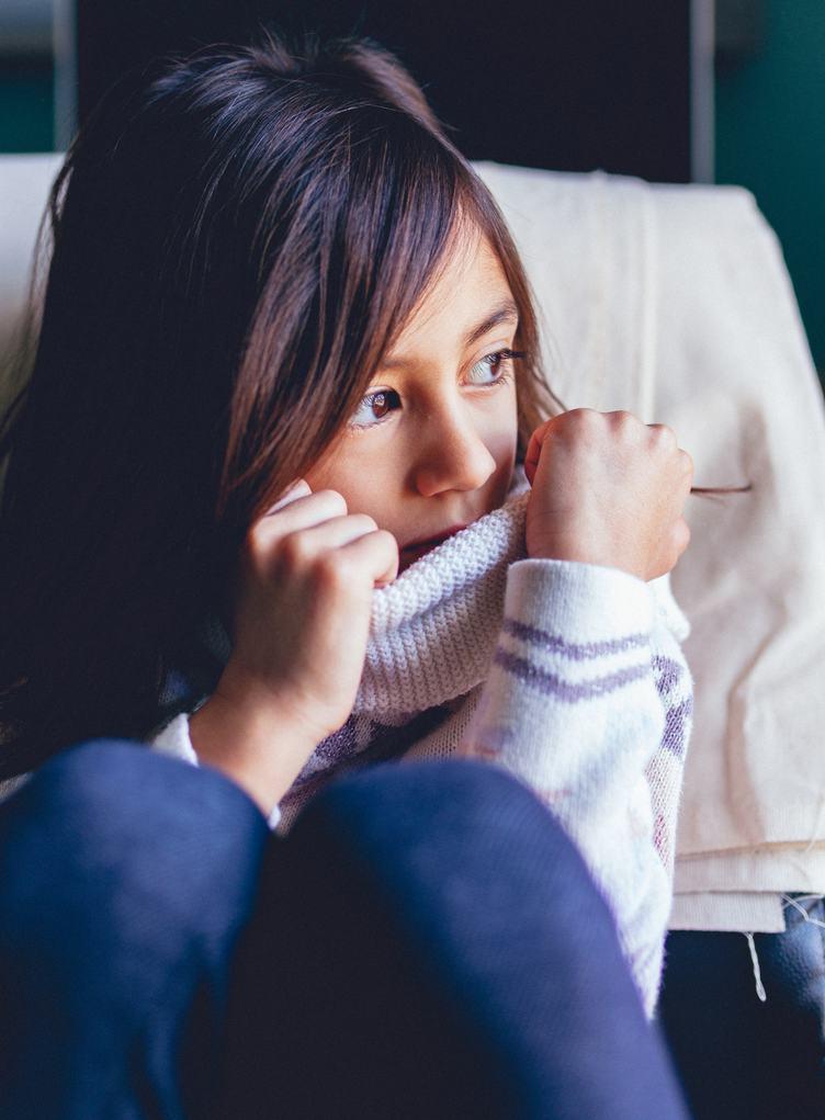 Brunette Girl Sitting