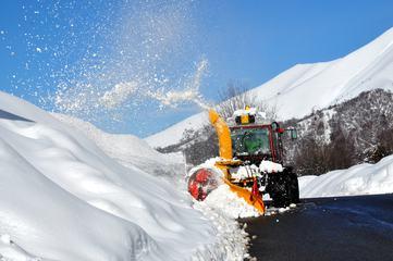 Snowplow Removing Snow