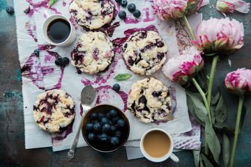 Composition of Homemade Blueberry Cookies