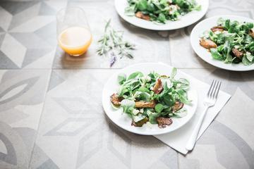 Salad with Potato Salad with Oyster Mushrooms