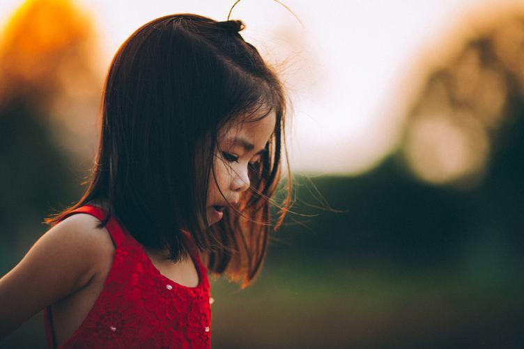 Little Asian Girl Outdoors
