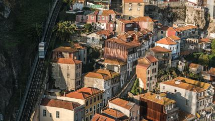 Buildings on the Hill, Porto Portugal