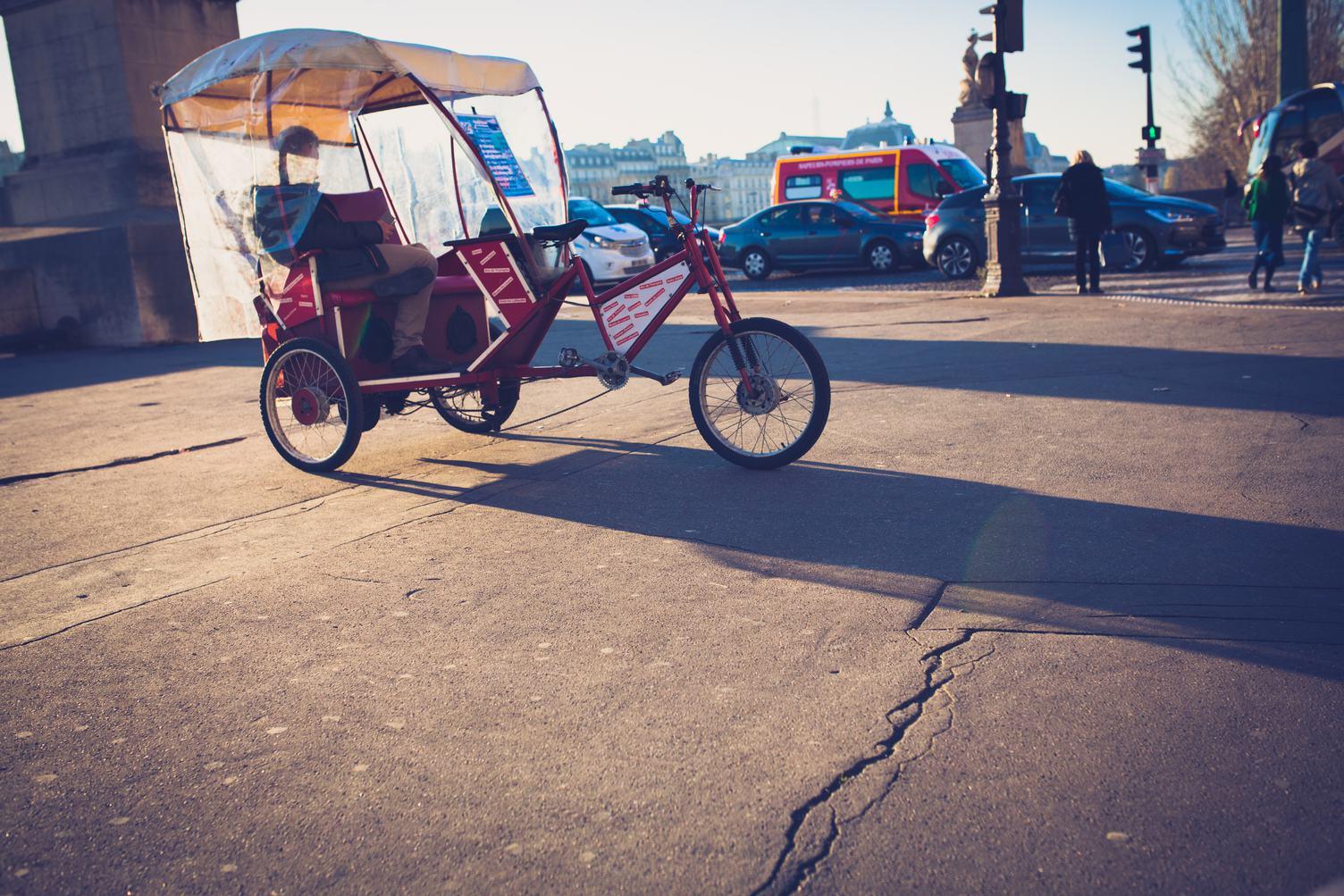 Parisian Cycle Rickshaw
