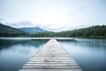 Lost Lake Dock in Whistler, British Columbia