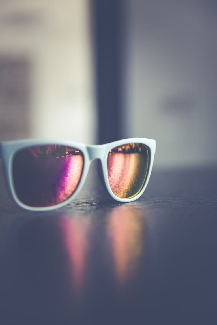 White Sunglasses on the Table