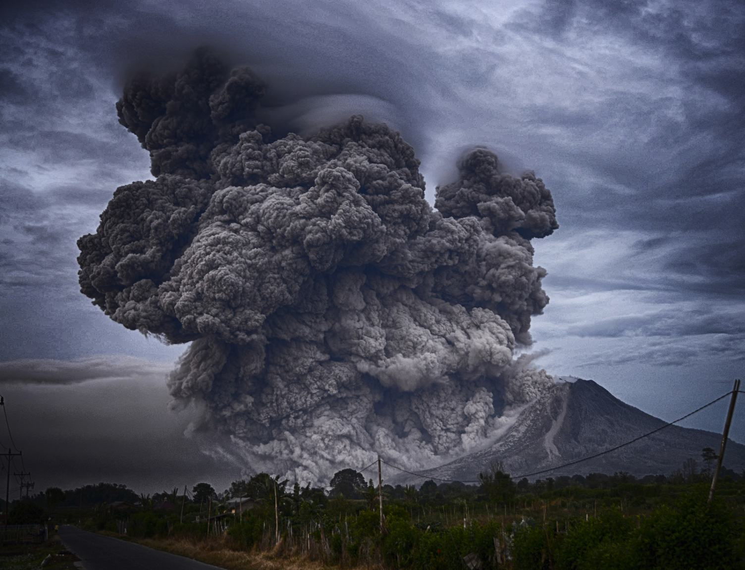 Volcano Eruption, Mount Sinabung, Indonesia