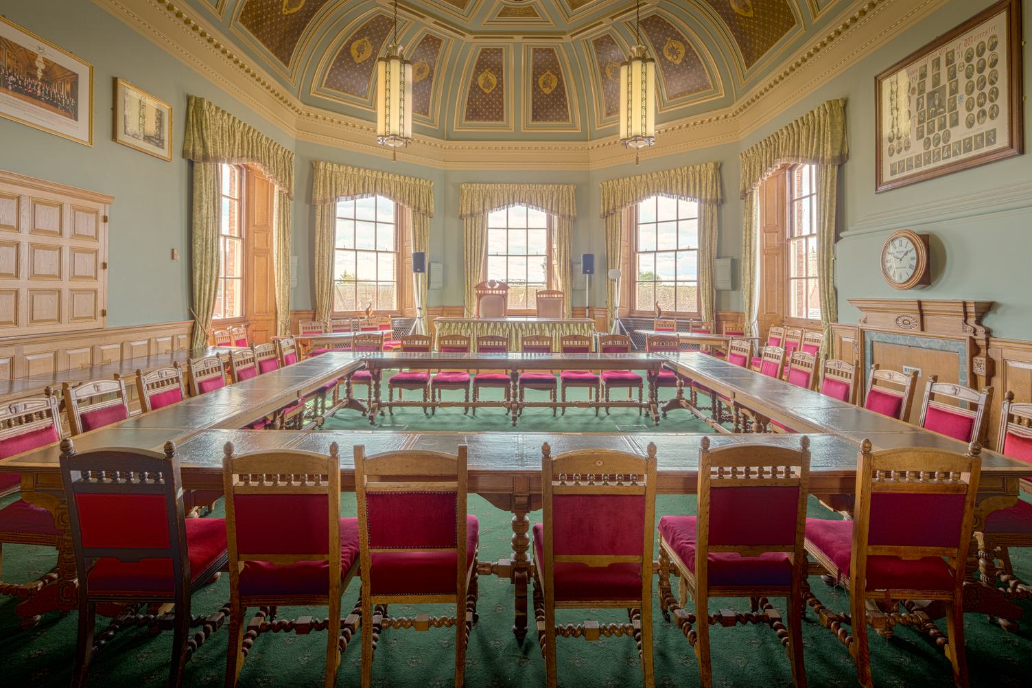 Guildhall Interior Council Chambers, Worcester, England