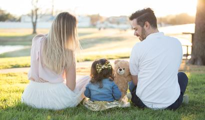Family Sitting on the Grass