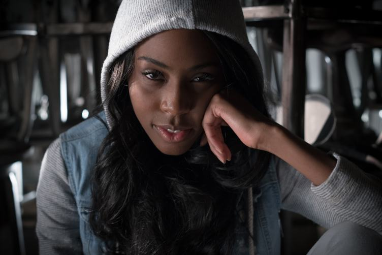 Woman in a Hood Portrait