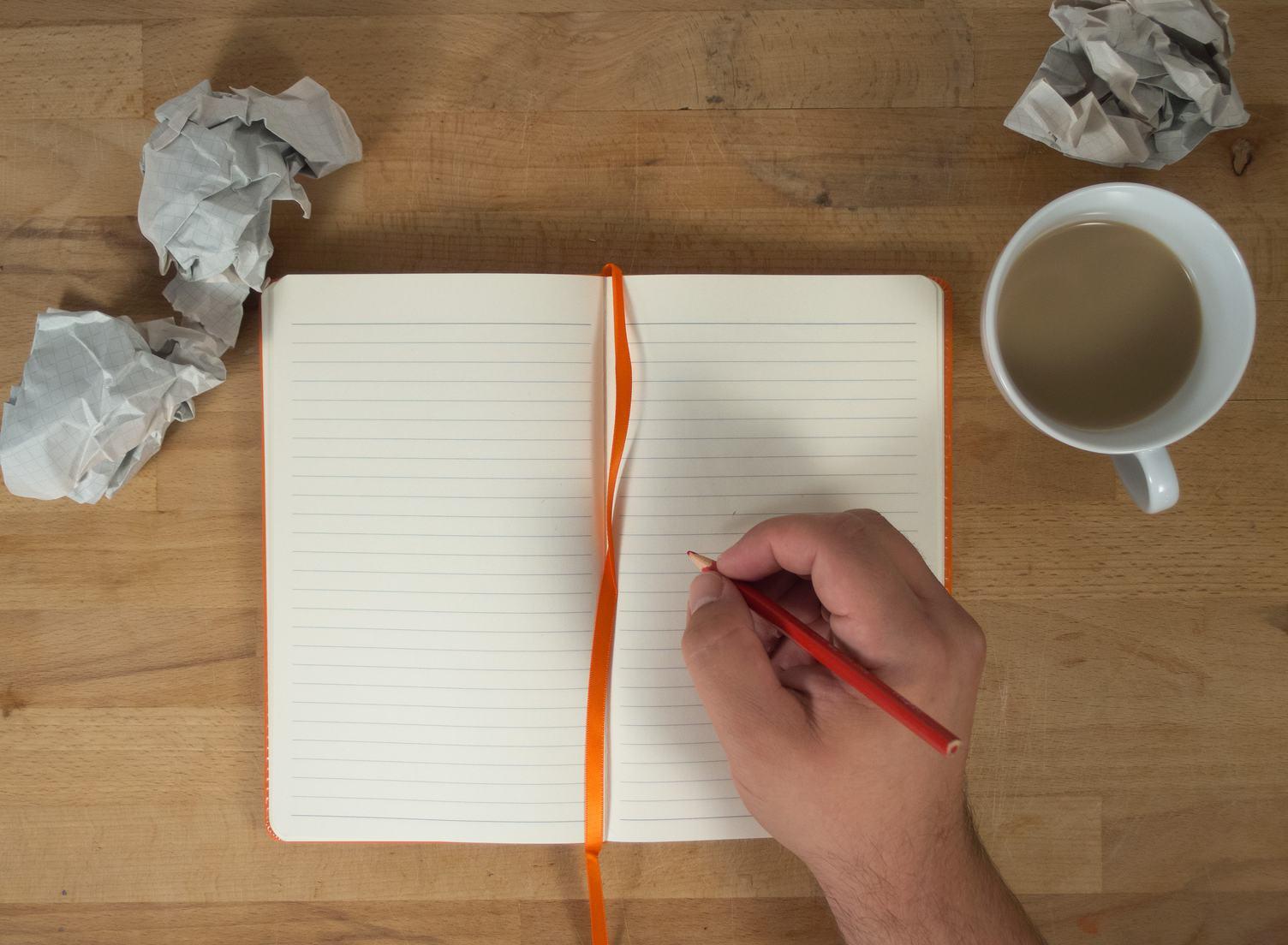 Open Blank Notebook Mockup