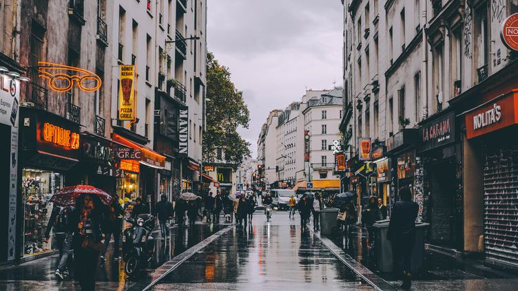Paris Street on a Rainy Day